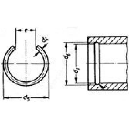 Metric 150 pcs Internal Snap Rings Spring Steel M28 DIN 7993B