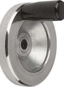 Kipp 06291-1025080 Duroplastic Steel Machine and Handwheel Handle M10 Thread Metric Fixed Galvanized Finish DIN 39 Style E
