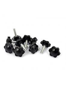 16 mm Diameter Style C Polished Finish M4 Thread Kipp 06247-116043 Aluminum Ball Knob with Tapped Hole Metric