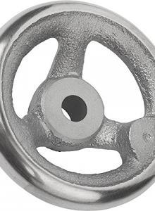 22 mm Bore Size Metric Kipp 06275-0250X22 Aluminum Disc Handwheel Without Handle 250 mm Diameter Planed