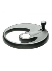 Matte Anodized Aluminum Ring Black Oxide Steel Hub Not Drilled High Strength Duroplast 9.8 Diameter 9.8 Diameter No Handle Elesa 71105 Solid Handwheel
